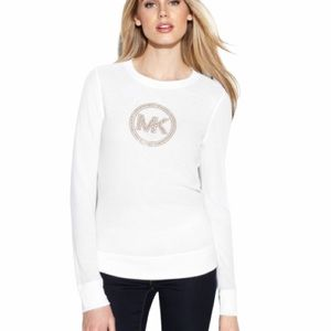 Michael Kors pullover long sleeve embellished top